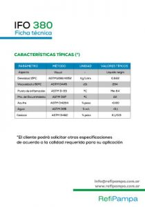 REFIPAMPA - Ficha Técnica IFO 380